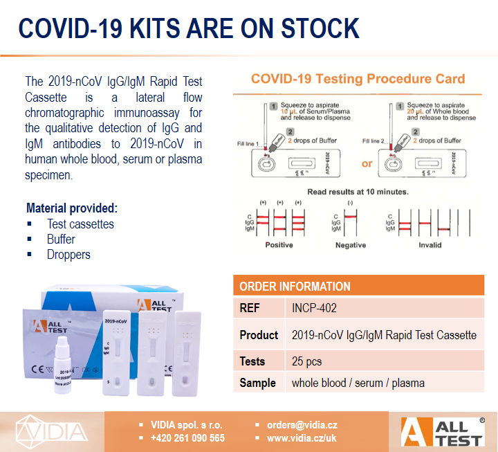 EN mailing launching product COVID 19 AllTest